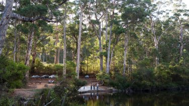 Glenoran Pool, a swimming hole near Manjimup in WA's south-west.
