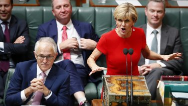 Foreign Affairs Minister Julie Bishop during question time on Thursday.