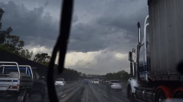 Severe storms hammer into Sydney's western suburbs on Friday afternoon.