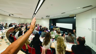Sydney University law students will compete with thousands of other graduates for a job.