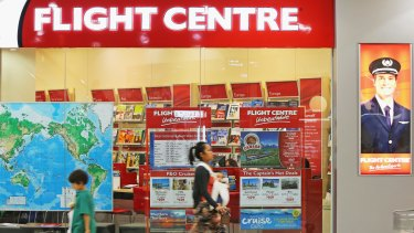 Flight Centre soared after it raised its profit expectations for the full year.