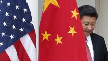 Chinese President Xi Jinping at the White House.