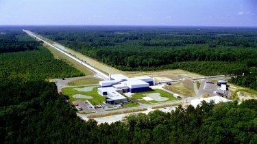 The LIGO interferometer in Livingston, Louisiana.