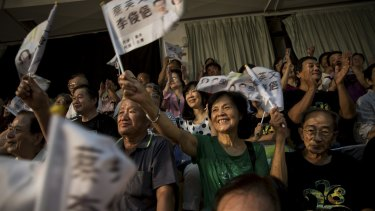 Supporters of Tsai Ing-wen, the Democratic Progressive Party presidential candidate, at a campaign event in Chiayi, Taiwan, last month.