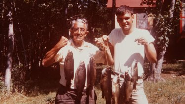 Bill Rohr (right) with his father-in-law in the early 1970s.