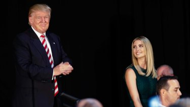 Ivanka Trump watches after her father delivered a policy speech on childcare in September.