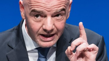Pulling the strings: FIFA President Gianni Infantino.