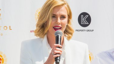 Charlize Theron has helped promote the Capitol Grand during a quick visit to Melbourne.