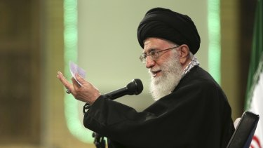 Iranian supreme leader, Ayatollah Ali Khamenei last year in a photo issued by the Office of the Iranian Supreme Leader.