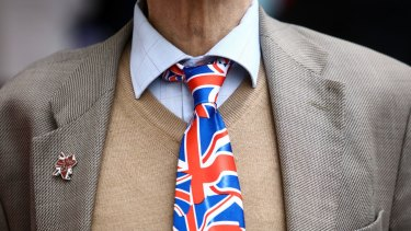 Britons are wearing, and waving, the Union Jack in the run-up to the Brexit poll on June 23.