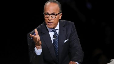 "Trump cited ""unfair questions"" posed by the moderator of the first debate, Lester Holt of NBC News."
