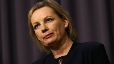 """Former health minister Sussan Ley said in 2015 health funds were issuing """"junk"""" policies to keep budget conscious customers."""
