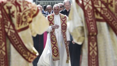 Pope Francis in Yerevan.