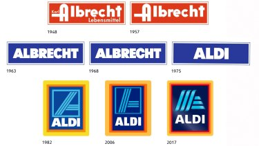 ALDI has changed its logo several times since the late 1940s.