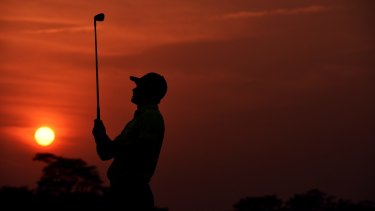 A player plays a shot in Shenzhen at the weekend.