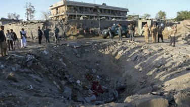 The suicide truck bomb hit the outside of the highly secure diplomatic area of Kabul, killing scores of people.