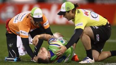 The Canberra Raiders insist they will still name Josh Hodgson in their team on Tuesday despite the fact he is struggling with an ankle injury.