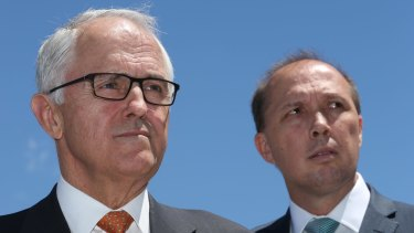 Malcolm Turnbull and Peter Dutton have come under fire from Bill Shorten over 457 visas.