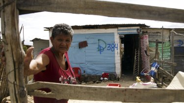 Houses used by migrants in San Antonio, Venezuela, have been marked for demolition.