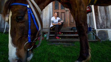Belinda Ritchie with her stock horse Clincher, at Laguna in the Hunter Valley.