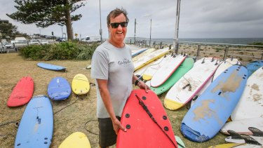 """President of the Cronulla Chamber of Commerce and Head Surf Coach, Mark Aprilovic at Cronulla Beach says """"there's nothing to celebrate"""" about the 10 year anniversary of the Cronulla riots."""