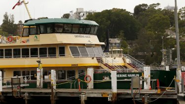 One of the new fleet, previously named by the public, the Catherine Hamlin Ferry.