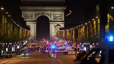 Police have sealed off the Champs Elysees after a shooting.