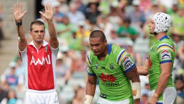 Raiders centre Joey Leilua faces a three-week ban.