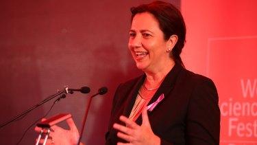 Premier Annastacia Palaszczuk at the World Science Festival Brisbane in March.