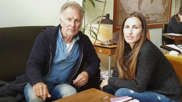 Lucky escape: Melbourne businesswoman Mikala James and her father Brian were on their way to the square when they heard the explosion.