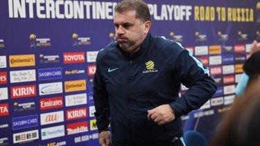 Moving on: Former Socceroos coach Ange Postecoglou.
