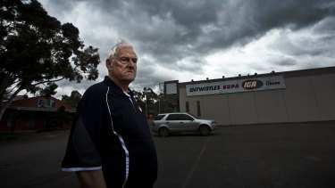 It's been a grim end to 50 years in business for third-generation supermarket owner Barry Entwistle.