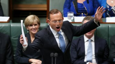 """Prime Minister Tony Abbott withdraws his """"Dr Goebbels"""" remark in question time on Thursday."""