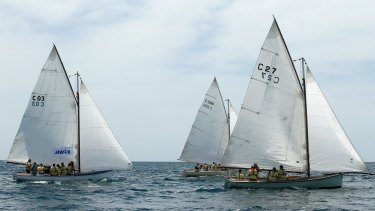 Couta boats racing at the KPMG Couta Boat Classic in 2015.