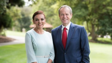 Newly elected Labor MP for Cowan Anne Aly with Opposition Leader Bill Shorten.