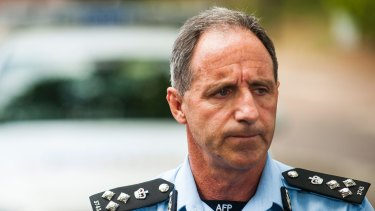 ACT police commander Mark Walters speaks to reporters about the explosion and fire.