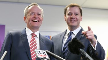 Labor's spokeman on digital innovation Ed Husic, pictured with leader Bill Shorten, says governments can be powerful customers for start-ups.