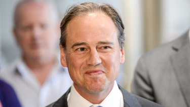 Federal Health Minister and local member Greg Hunt.