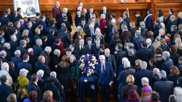The biggest names in the political life of Victoria were among the more than 1000 mourners at the funeral of Joan Kirner.