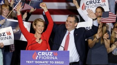 Mr Cruz and Carly Fiorina are pitching themselves as Washington outsiders.