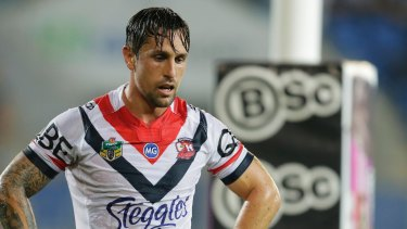 On the move: Manly looks to be the most likely destination for former Rooster Mitchell Pearce.