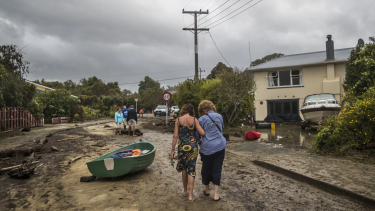 Residents of Mapua, west of Nelson, are faced with a huge clean up following flooding in the region.