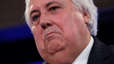 Palmer United Party leader Clive Palmer at the National Press Club on Monday.
