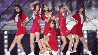 South Korea is trying to get under the skin of its arch-rival with border broadcasts that feature not only criticism of North Korea's nuclear program, troubled economy and human rights abuses, but also songs by K-pop girl group Apink.