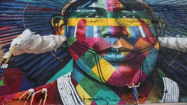 Colourful: The revamped Port District area in Rio.