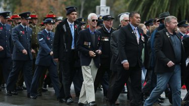 The Anzac Day parade in Melbourne in 2015, which was to be the target of the planned attack.