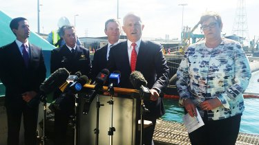 Prime Minister Malcolm Turnbull and Defence Minister Marise Payne on Tuesday.