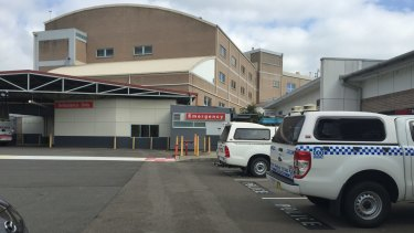 Police cars outside Nepean Hospital.