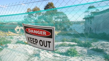 Land at Hunters Hill that was once home to a uranium smelter.