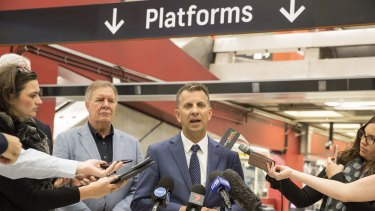 Transport Minister Andrew Constance announces changes to Opal fares.
